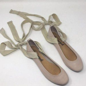 Free People Flats Leather Shoes Tie Lace Up 39